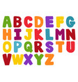 stylized colorful font and alphabet vector image vector image