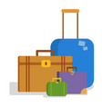 suitcases flat vector image