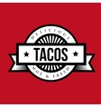 Tacos Vintage stamp vector image vector image