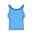 tank t-shirt line icon vector image vector image