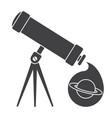 telescope for astronomy vector image vector image