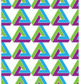 Triangle inspired texture background continuous vector image vector image