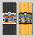 vertical banners for halloween holiday vector image vector image