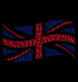 waving united kingdom flag collage of electric vector image vector image