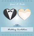 wedding card in form heart vector image