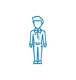 working as a waiter linear icon concept working vector image