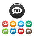 yes icons set simple vector image