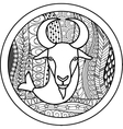 Zodiac sign Capricorn vector image