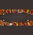 culinary banner barbecue vector image