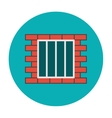 Jail icon flat vector image