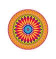 geometric ornament colorful card with mandala vector image