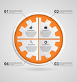 Color gear infographics options banner vector image