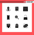 9 universal solid glyph signs symbols japanese vector image vector image