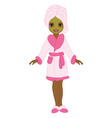 African American Spa Girl vector image