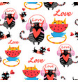 amusing pattern in love cats