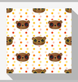 Animal seamless pattern collection with bear 5 vector image vector image