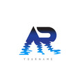 ar a r letter logo design with water effect