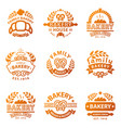 Bakery gold badge icon fashion modern style wheat