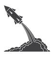 ballistics with rocket launch vector image vector image