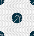 Basketball icon sign Seamless pattern with vector image vector image