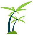 beach coconut palm flat icon isolated vector image