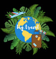 big travel flat poster vector image