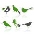 bird characters vector image vector image