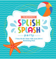 Birthday Card Invitation Summer Fun Splash Pattern vector image vector image