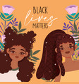 black lives matter young afro american women vector image vector image