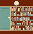 Bookcase In Reading Room vector image vector image
