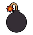 boom explosive isolated icon vector image vector image