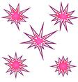 Bursting icon set vector image vector image