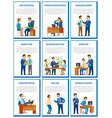 business meeting and job interview with candidate vector image vector image