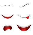 Cartoon mouths set vector image