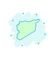 cartoon syria map icon in comic style syria sign vector image