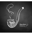 Chalkboard drawing of smoking pipe vector image vector image