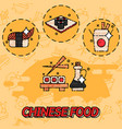 chinese food flat concept icons vector image
