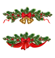 Christmas branches vector image vector image
