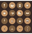 Coffe flat icons set vector image
