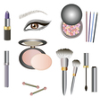 collection of makeup icon for beauty design vector image vector image