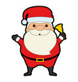 cute santa claus with bell kawaii character vector image