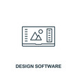 design software icon thin outline style from vector image vector image