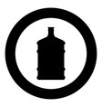 dispenser large bottles icon black color in circle vector image vector image