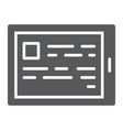 e reading glyph icon e learning and education vector image