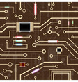 electronic circuit background vector image vector image