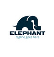 elephant simple symbol vector image vector image