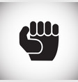 fist icon on white background for graphic and web vector image