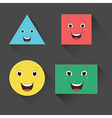 Flat Smiling Shapes vector image