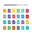 flat style icon set graphic design file vector image
