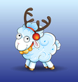 Funny baby sheep vector image